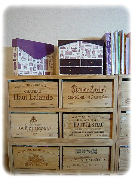 recyclage caisses de vin bricolage pinterest. Black Bedroom Furniture Sets. Home Design Ideas