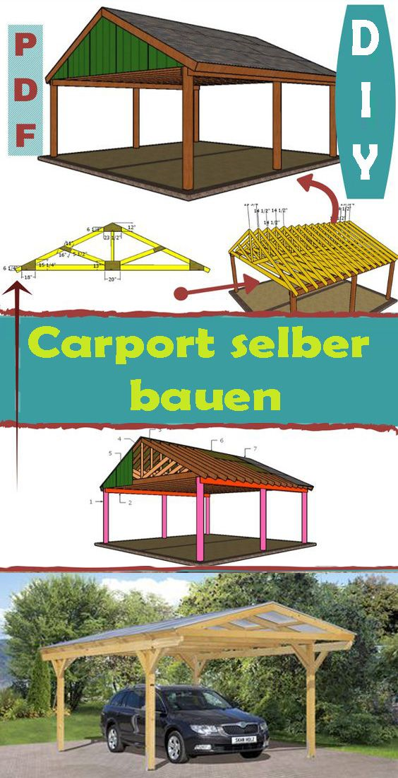 Carport Selber Bauen Kostenlose Anleitung Fur Anfanger Carport Pergola Outdoor
