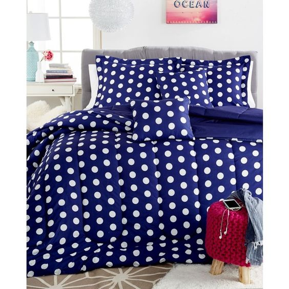 dottie 5 pc full comforter set 58 cad liked on polyvore featuring home bed bath bedding. Black Bedroom Furniture Sets. Home Design Ideas