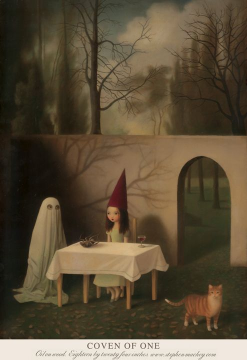 stephenmackey: Coven Of One 'Oil on Wood, Eighteen by Twenty Four Inches' stephenmackey.com / ingofincke.com: