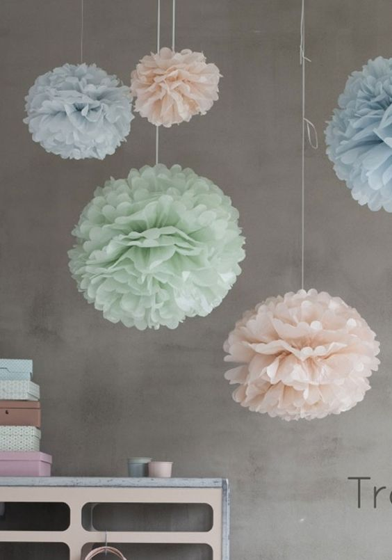 Pastels Pom Poms from ENGEL. Styling: Dony design & Studio thuis. Photography: Nick kidman.