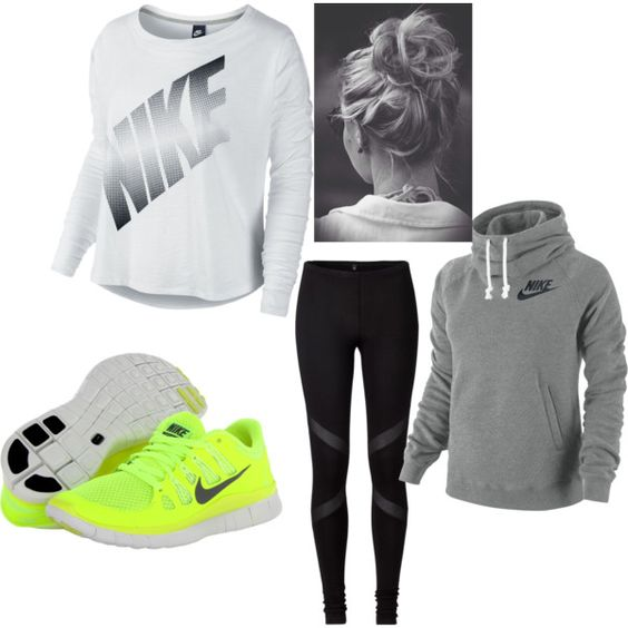 U0026quot;Sports Outfit!u0026quot; by hollister925 on Polyvore | Fashion | Pinterest | Sport outfits Cheap nike ...