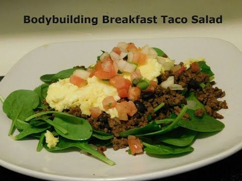 Bodbuilding BreaKfast/Brunch Taco Salad Recipe - YouTube