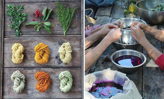 Des teintures textiles à échelle industrielle à bases d'épluchures et de déchets de légumes