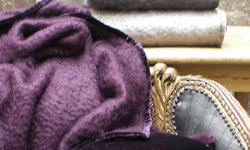Mantas y plaid - Manta Mohair terciopelo, Adriana Barnils - Manta en mohair y terciopelo, colores antracita, acqua, vison, berenjena