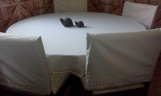 Toalha de mesa + capas dupla face