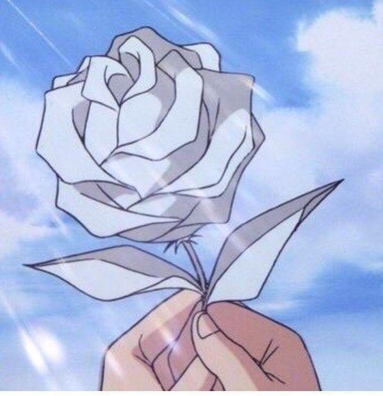 White Rose Aesthetic Anime Blue Anime Anime Scenery