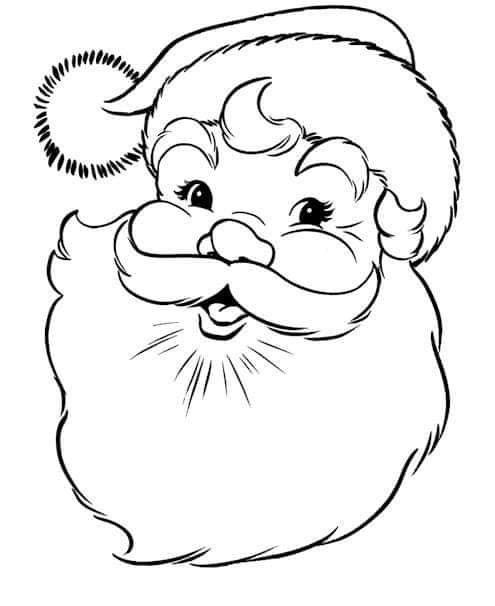 malvorlage weihnachtsmann gesicht  ethel flannery schule