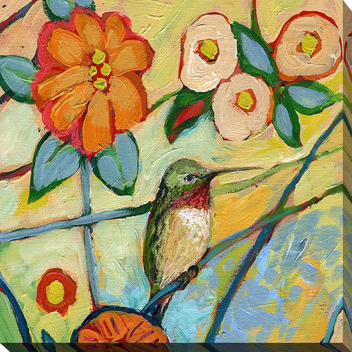 """Found it at Wayfair - """"Bird XV"""" by Jennifer Lommers Painting Print on Wrapped…"""
