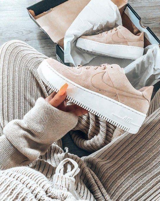 Nike on Twitter | Beige shoes, Nike air shoes, Nike air force beige