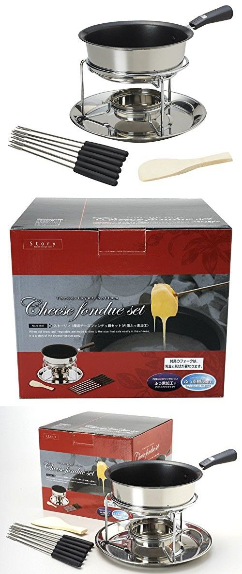 Pearl Metal 3 Layer Bottom Cheese Fondue Pot Set H 1647 From