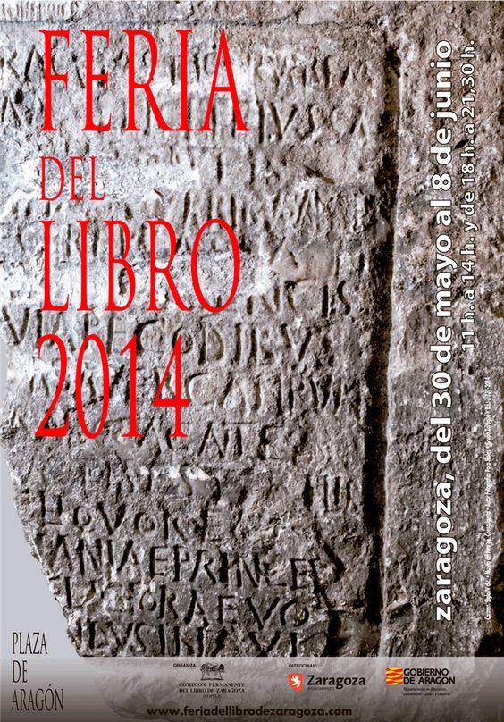 Cartel Feria del Libro de Zaragoza 2014: