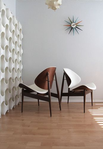 Kodawood Lounge Chairs Mid Century Danish Modern Finn Juhl Wegner Style   eBay