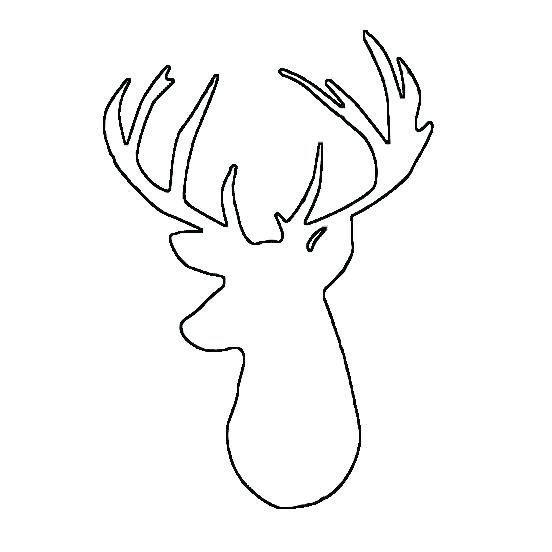 Deer Printable Coloring Pages Freedm Deer Head Coloring Pages 552 X 552 Pixels Diy Christmas Canvas Deer Head Silhouette Reindeer Silhouette