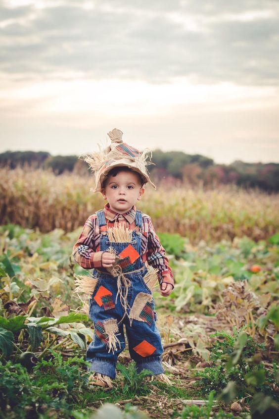 Toddler Boy DIY Scarecrow Costume