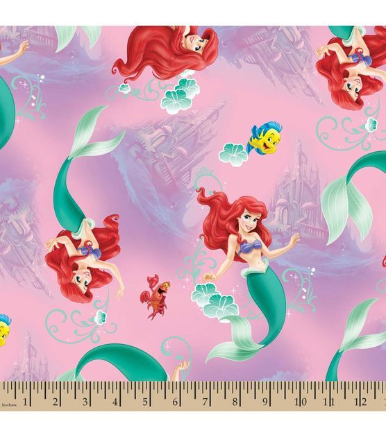 Disney Little Mermaid Underwater Cotton Fabric