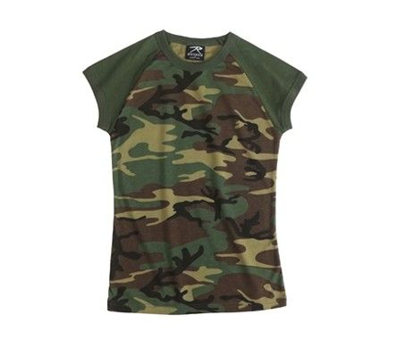 Rothco- Women's Woodland Short Sleeve Raglan T-Shirt