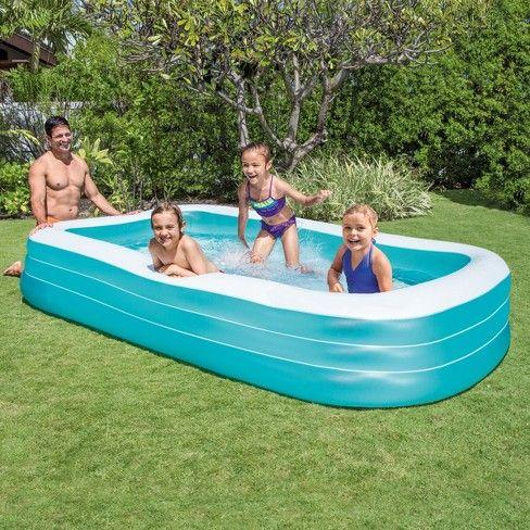 Intex 120 X 72 X 22 Swim Center Family Inflatable Pool In 2020 Inflatable Pool Kiddie Pool Family Inflatable Pool