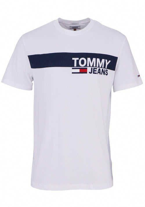 Tommy Jeans Halbarm T Shirt Rundhals Schrift Print Weiss Menst Shirts Gucci T Shirt Mens Polo Shirt Outfits Mens Shirts