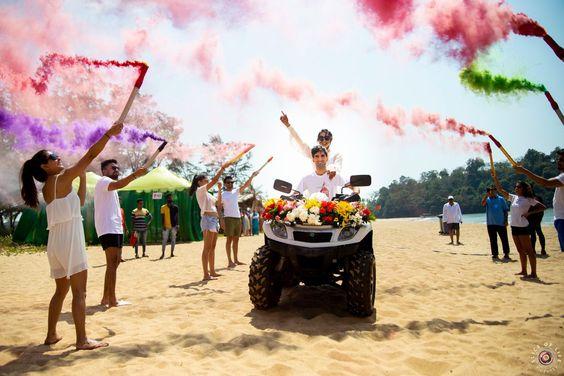 A Fun-filled Goa Wedding With Pre-Wedding Holi Function!