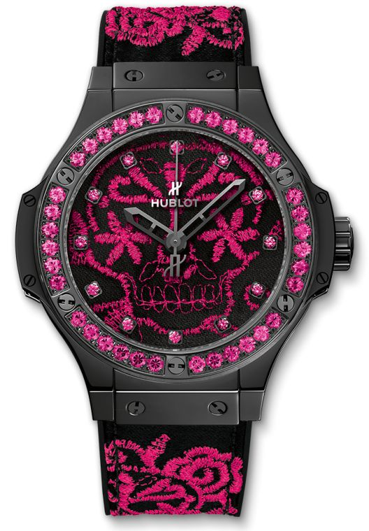 Hublot Big Bang Broderie Sugar Skull Fluo Hot Pink