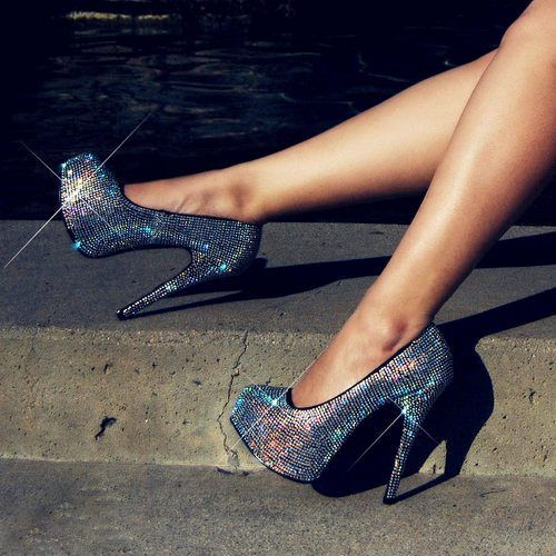 I can't get enough of jewels and heels!!