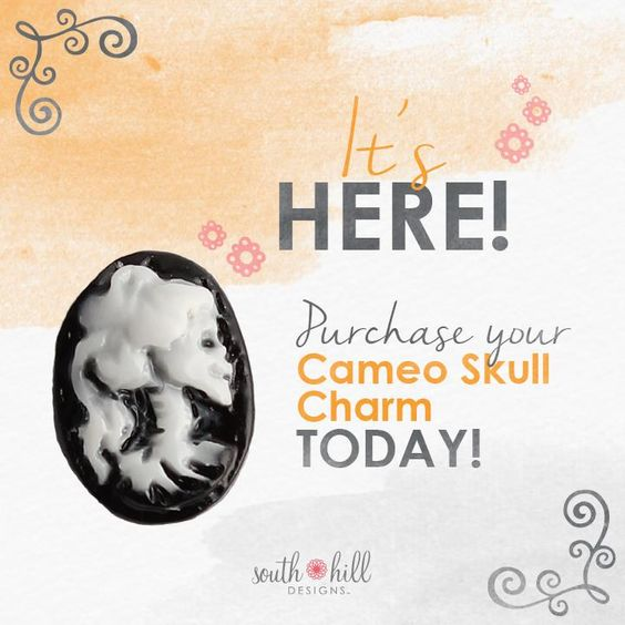 We promised you a brand new Cameo Skull Charm just in time for all of your spooktacular celebrations this fall, and guess what? It's here! This boo-tiful piece will make a wonderful addition to your bag of tricks and treats this season, so why wait? Make it yours today! http://SouthHillDesigns.com/TammyTamayo