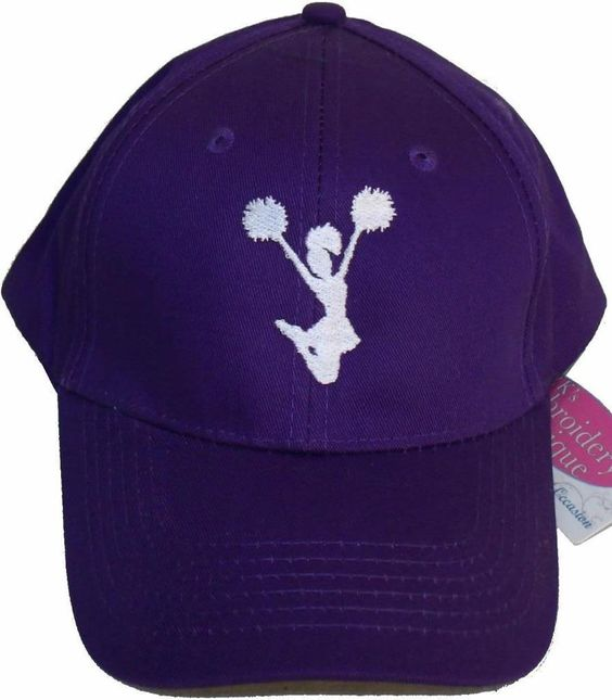 Cheerleader Hat Baseball Cap Cheerleading Squad Mom Dad Monogram Purple Avail…