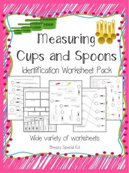 All about measuring. Liquid, dry and spoons | Special Education ...