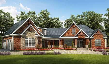 House Plans Plan W36029DK Angled Craftsman House Plan More
