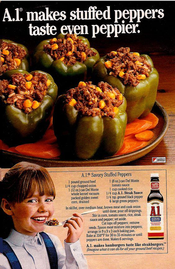 A1 Savory Stuffed Peppers vintage...again I <3 vintage recipes
