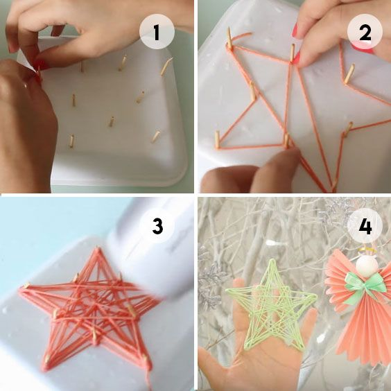 Yarn Stars Christmas Crafty Christmas Crafts For Kids Christmas Crafts Diy