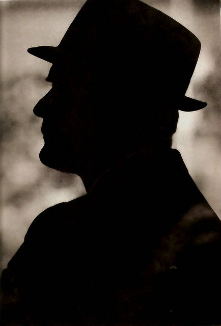 Silhouette the man in the hat tom landry football pinterest tom