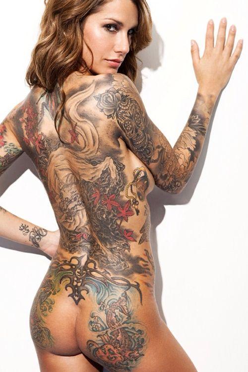 Sexy tattoo ladies nude