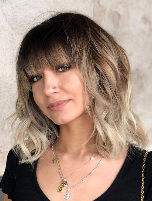 Tremendously Cool Shoulder Length Hairstyles 2021 With Bangs In 2020 Hair Styles Cute Hairstyles For Medium Hair Medium Hair Styles