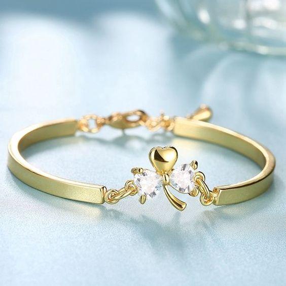 BEAU! Bijoux Bracelets de Cristal Swarovski Jaune or 18K GP *ZCB022-A +BOX