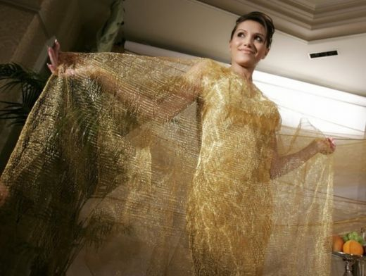 Image result for Golden evening dress by Ginza Tanaka – $245,000