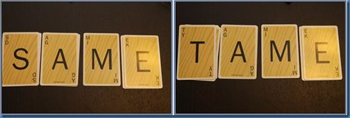 We use Scrabble Slam cards for site words. I give the kids the last 2 letters of the word family and they use the pile of cards to make words. Whoever gets the most real words wins. They all have a blast with this game. I would suggest this for teachers to have in the classroom too. =)