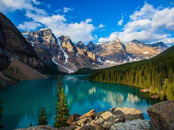 Obtuve:¡Un paisaje de mostaña, con un lago cristalino, describe tu alma!!