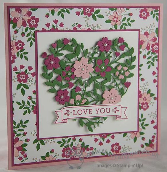 Love Blossoms With The Bloomin' Heart Thinlit Die. What a stunnung card!: