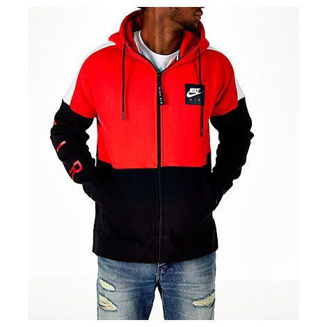 nike air zip hoodie red