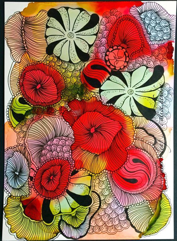 alcohol ink, yupo paper, Alice Hendon, CZT, The Creator's Leaf, www.thecreatorsleaf.com