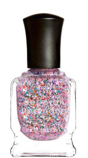 deborah lippmann candy shop: pink rainbow glitter unicorn femme explosion