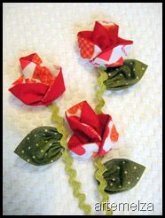 Flor de fuxico série origami – passo a passo   Origami series yo-yo flower