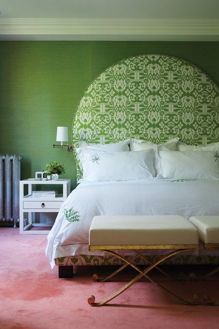 Too grand or would you consider an upholstered headboard with this shape? | House & Home