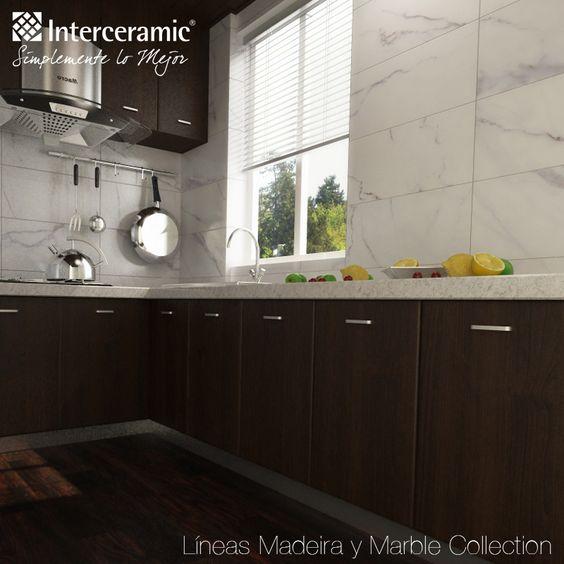 La combinaci n de m rmol y madera es la perfecta for Pisos de ceramica para cocinas modernas