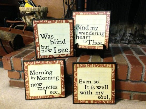 HYMN SIGNS by bethborder on Etsy, $20.00