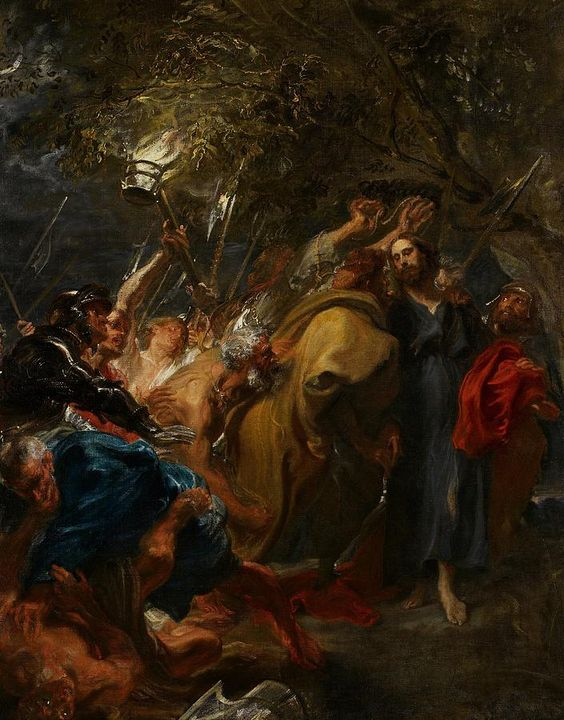 The Betrayal Of Christ Painting by Anthony Van Dyck