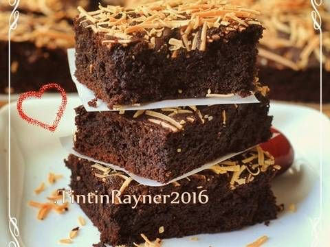 Resep Brownies Cokelat Moist Yummy No Bp Soda Kue Oleh Tintin Rayner Resep Makanan Manis Memanggang Kue Resep