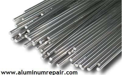 These #aluminum welding rods are harder than mild steel which results in minimized parent material distortion during welding.  http://www.aluminumrepair.com/welding-machine-alt.htm